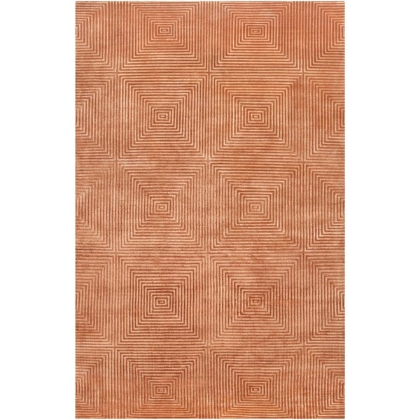 Hand-knotted Elko Geometric Wool Area Rug - 5' x 8'