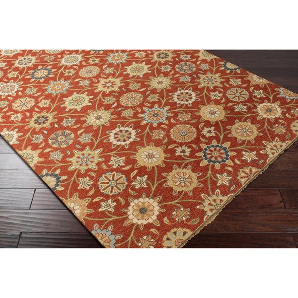 Hand-knotted Inman New Zealand Wool Area Rug - 6' x 9'