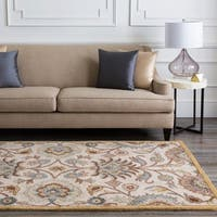 Hand-tufted Amanda Ivory Floral Wool Area Rug (5' x 7'9)