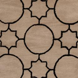Hand-tufted Oscar Black Wool Rug (8' x 10') - Thumbnail 2