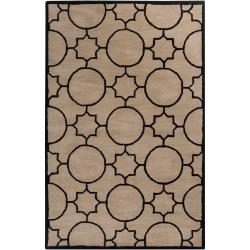 Hand-tufted Oscar Black Wool Area Rug - 8' x 10' - Thumbnail 0