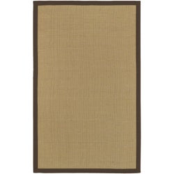 Woven Town Chocolate Sisal with Cotton Border Rug (4' x 6')