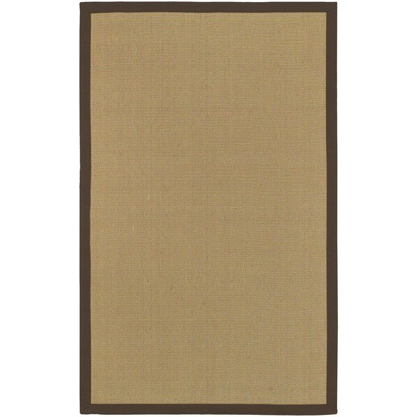 Woven Town Chocolate Sisal with Cotton Border Rug (5' x 7'9)