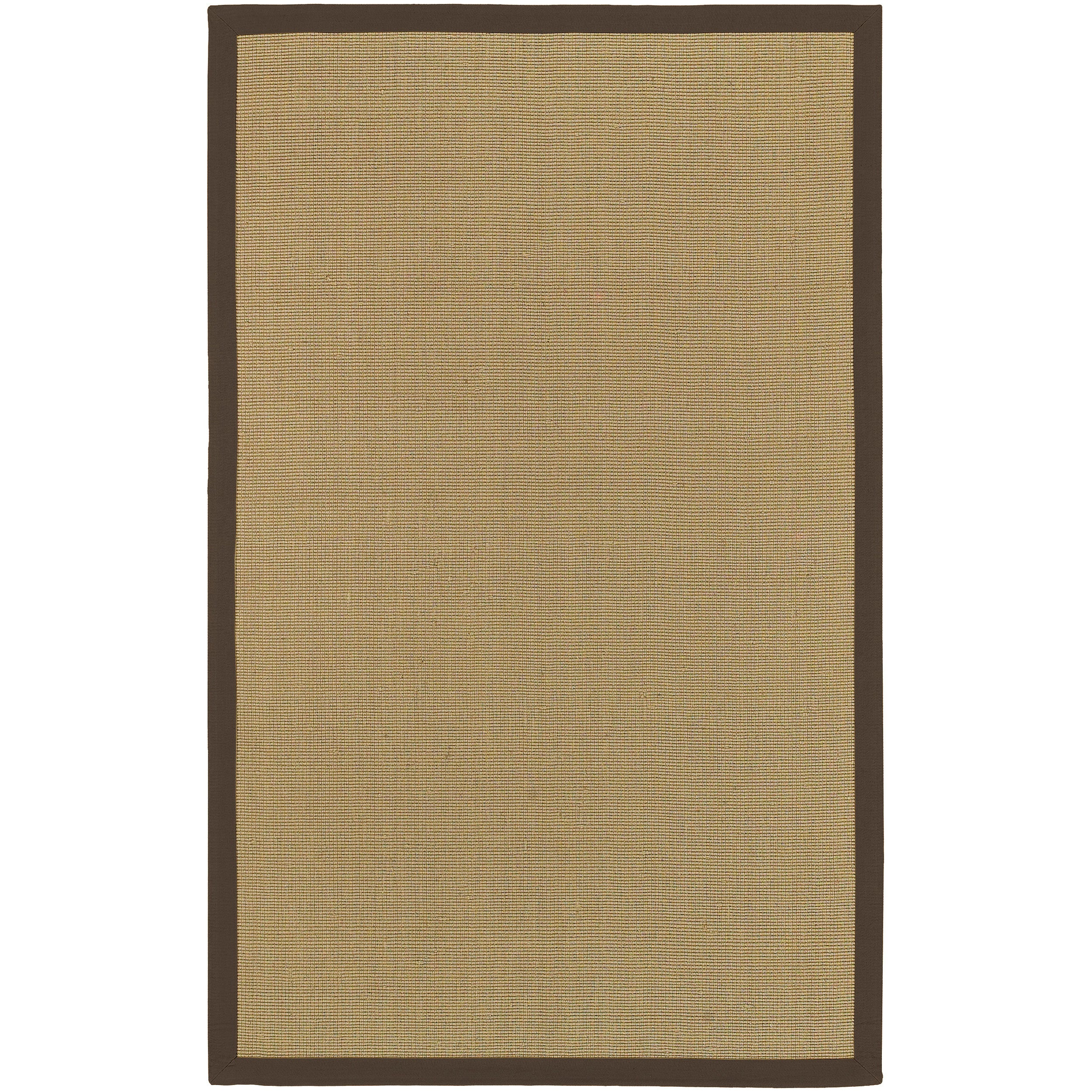 Woven Town Chocolate Sisal with Cotton Border Rug (6'x9')