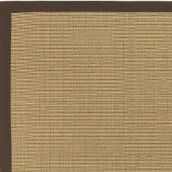 Woven Town Chocolate Sisal with Cotton Border Rug (9' x 12') - Thumbnail 2