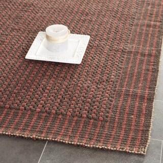 Safavieh Casual Natural Fiber Hand-Woven Loop Brown/ Rust Jute Rug (4' x 6')