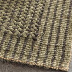 Safavieh Casual Natural Fiber Hand-Woven Loop Charcoal Grey/ Green Rug (8' x 10') - Thumbnail 1