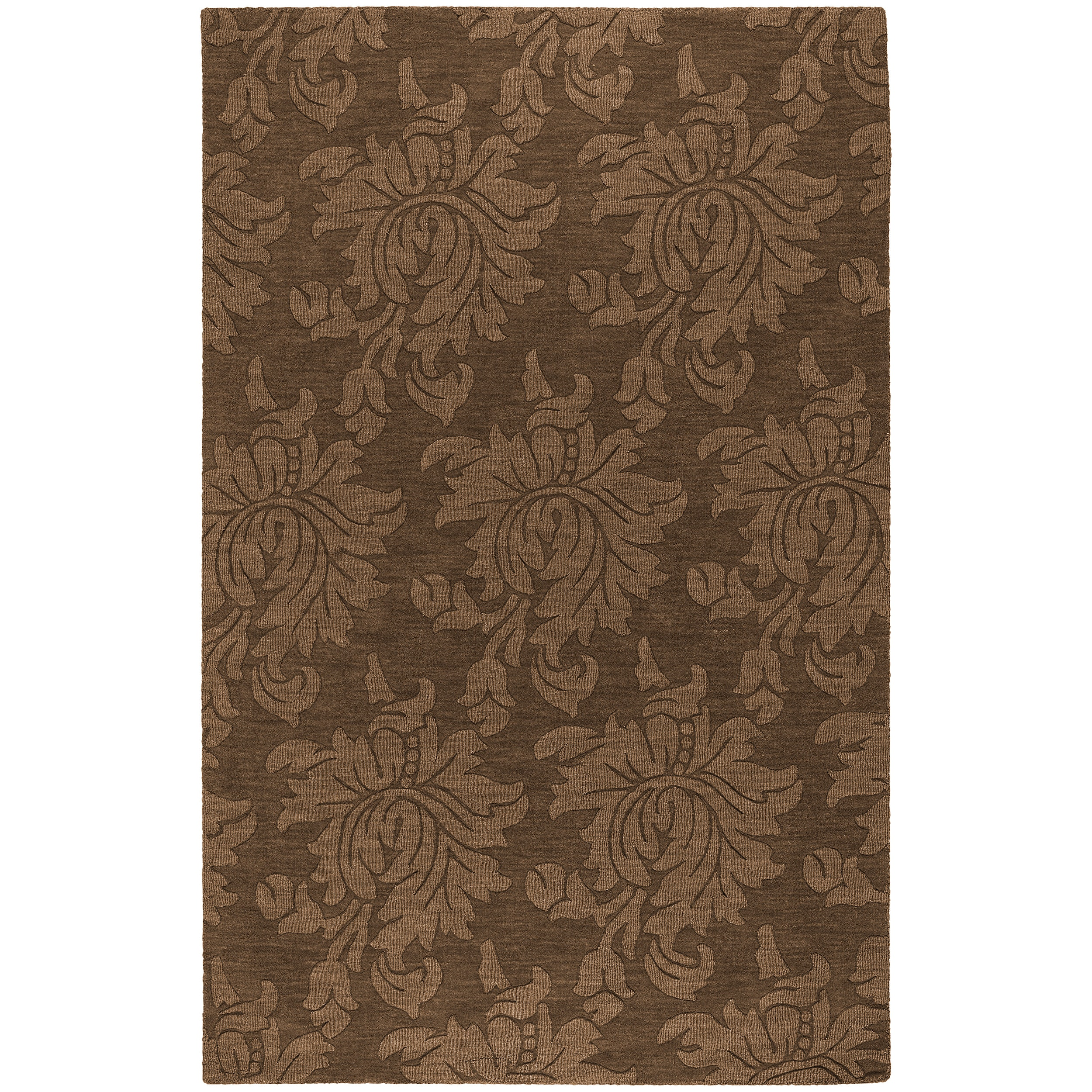 Hand tufted Sophia Brown Wool Area Rug (9' x 12')