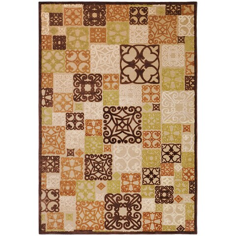 "Woven Tyler Natural Viscose / Chenille Area Rug - 7'6"" x 10'6""/Surplus"