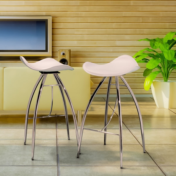 White Modern Chairs (Set of 2) by Christopher Knight Home