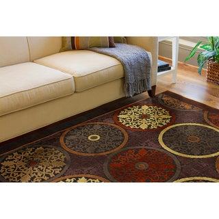 Clay Red Multicolor Viscose/Chenille Rug (5'1 x 7'6)