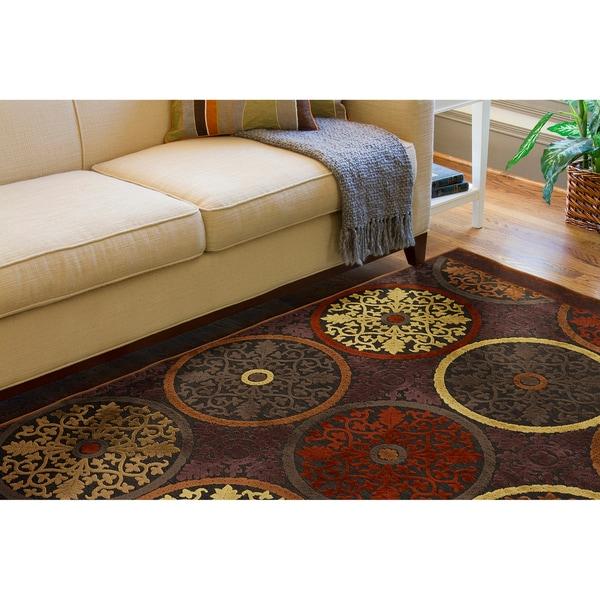 Clay red multicolor viscose chenille area rug 7 39 6 x 10 39 6 for Home decorators chenille rug
