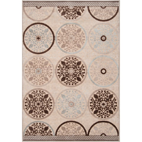 "Clay Cream Viscose/Chenille Area Rug - 5'2"" x 7'6""/Surplus"