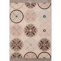 Clay Cream Viscose/Chenille Area Rug (7'6 x 10'6) - 7'6 x 10'6