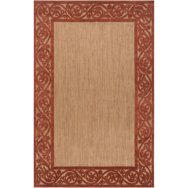 Woven Garden View Terra Cotta Olefin Area Rug (7'5 x 10'6)