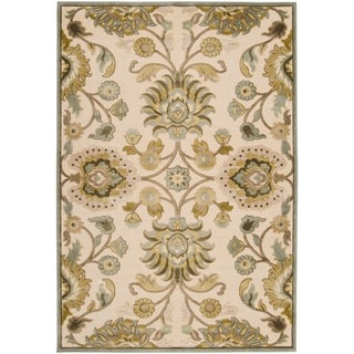 Woven Lauren Ivory Viscose/ Chenille Area Rug (4' x 5'7)