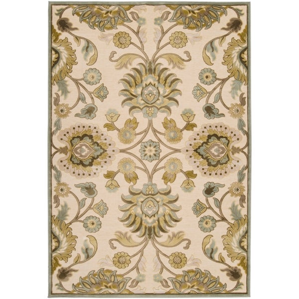 Woven Lauren Ivory Viscose/Chenille Area Rug - 7'6 x 10'6