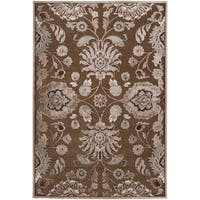 Woven Lauren Chocolate Viscose/ Chenille Area Rug - 5'1 x 7'6