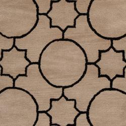 Hand tufted Oscar Black Wool Area Rug (3'6 x 5'6) - Thumbnail 2