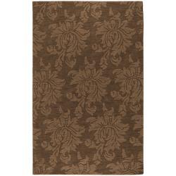 Hand Tufted Sophia Brown Wool Area Rug - 3'6 x 5'6