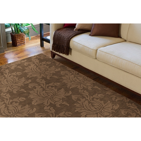 Hand Tufted Sophia Brown Wool Area Rug - 8' x 10'