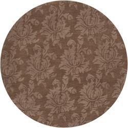 Hand Tufted Sophia Brown Wool Area Rug - 8' x 8'
