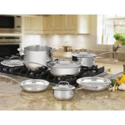 Cuisinart 44-10 Contour Stainless Steel 10-Piece Cookware Set - Thumbnail 1