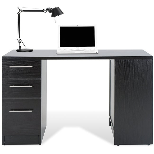 Jesper Office Study Desk With Drawers And Bookcase Free
