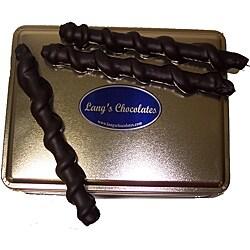 Lang's Chocolates 32-oz Dark Chocolate Caramel Pretzel Tin