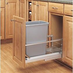 Rev-A-Shelf 5349-15DM-117 Silver 35-quart Waste Container