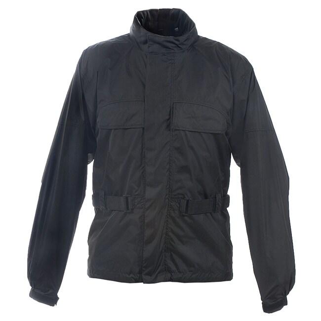 Mossi Men's RX-2 Black Motorcycle Rain Jacket