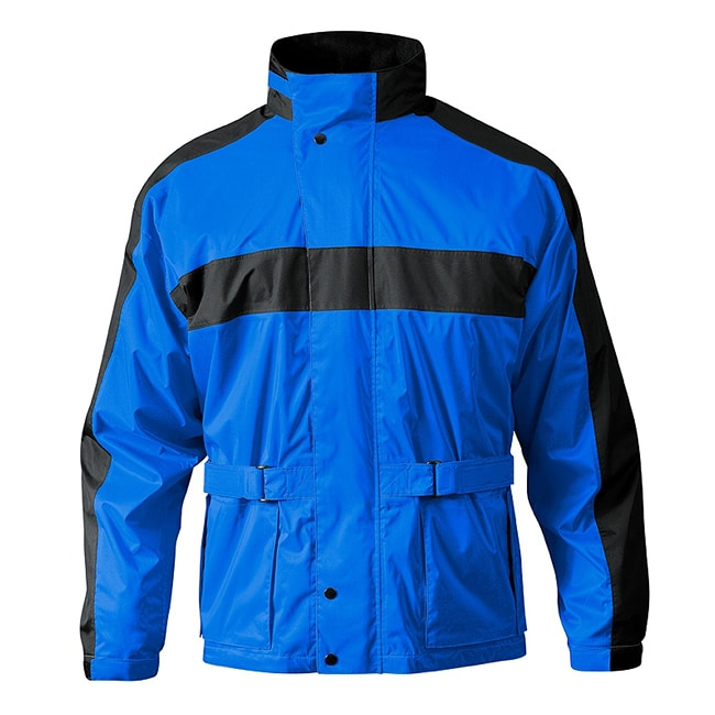 Mossi Men's RX-2 Blue/ Black Motorcycle Rain Jacket - Thumbnail 0