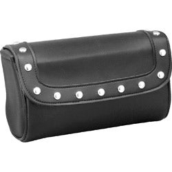 Raider Large Black Studded Motorcycle Windshield Bag
