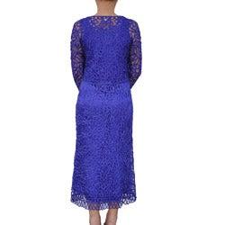 Soulmates Women's Hand-crocheted 2-piece Dress Set