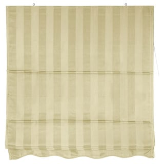 Handmade Striped Cotton-blend Roman-style Window Shade (60 inches x 72 inches) (China)