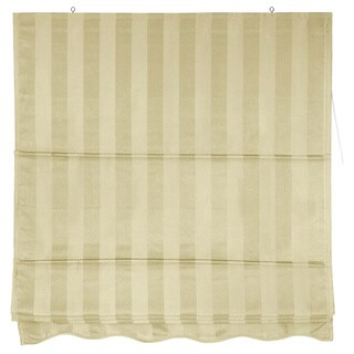 Handmade Striped Roman Shade (72 in. x 72 in.)(China)