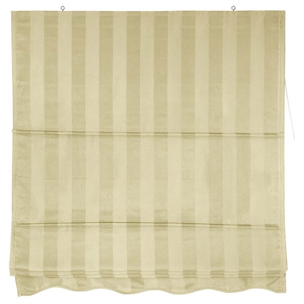 Handmade Striped Roman Shade (48 in. x 72 in.)(China)