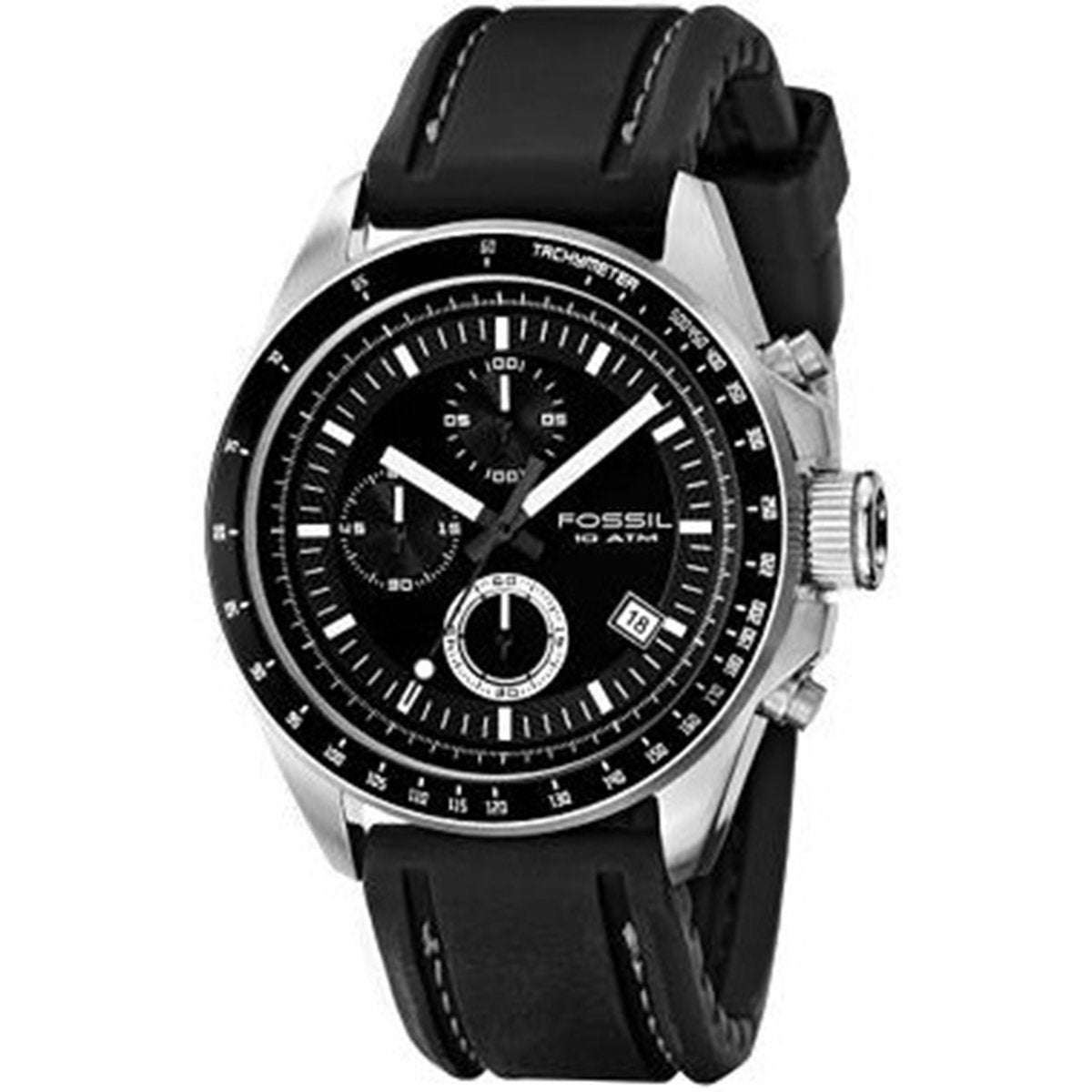 Fossil Men's CH2573 Chronograph Tachymeter Black Watch, S...