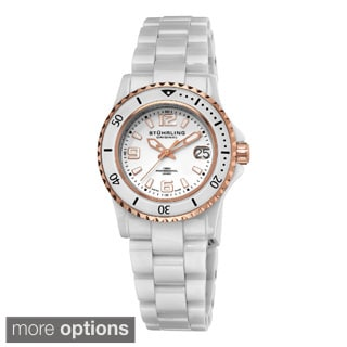 Stuhrling Original Women's Belladona Swiss Made Quartz Ceramic Bracelet Watch