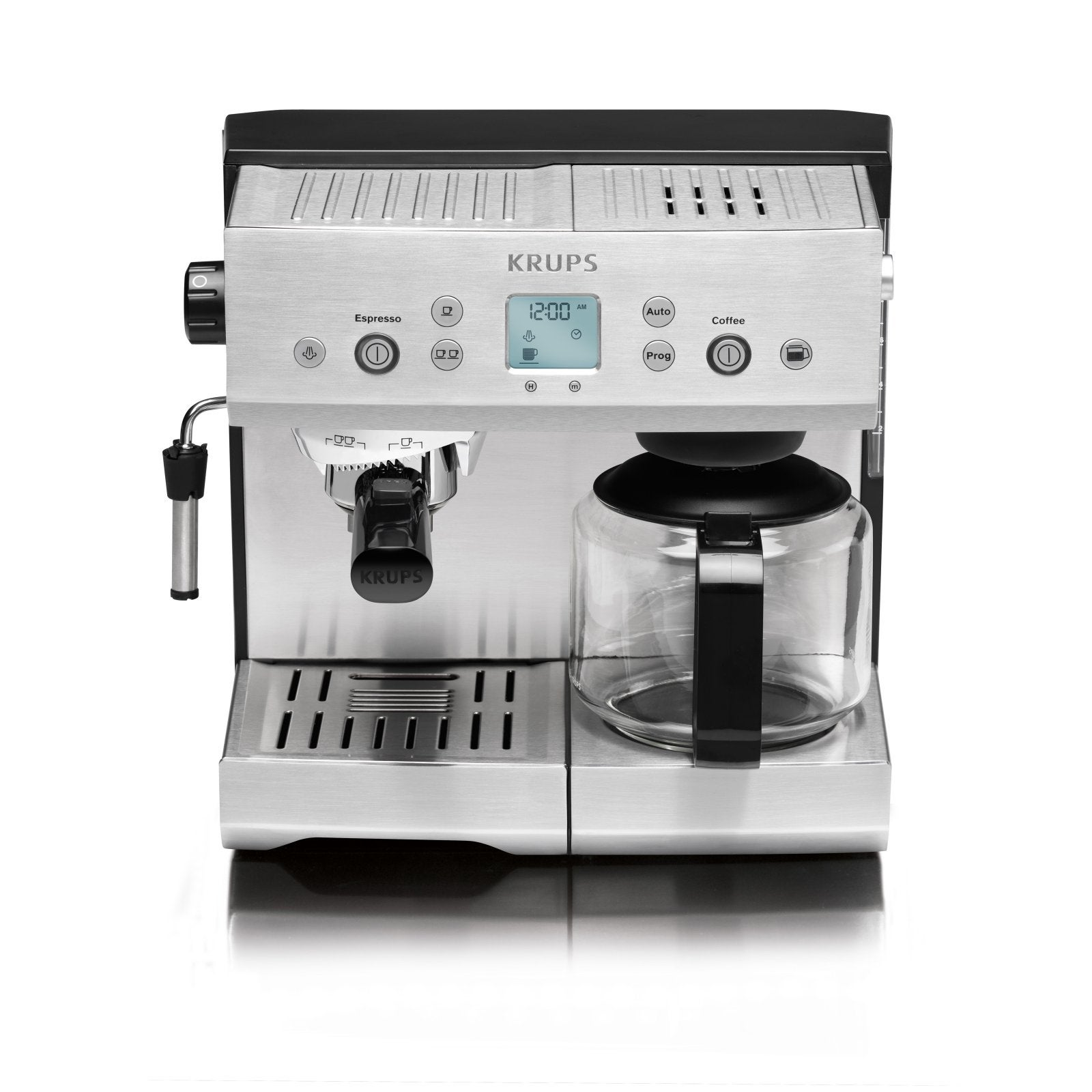 krups xp2280 programmable coffee and espresso machine. Black Bedroom Furniture Sets. Home Design Ideas