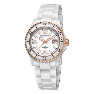 Stuhrling Original Men's Chevalier Diver's Swiss Quartz Ceramic Watch