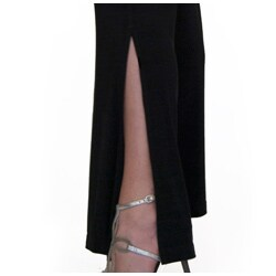 Shining Star Women's Black Knit Bootcut Pants - Thumbnail 2