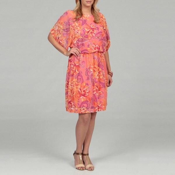 Shelby & Palmer Women's Plus Paisley Dress FINAL SALE