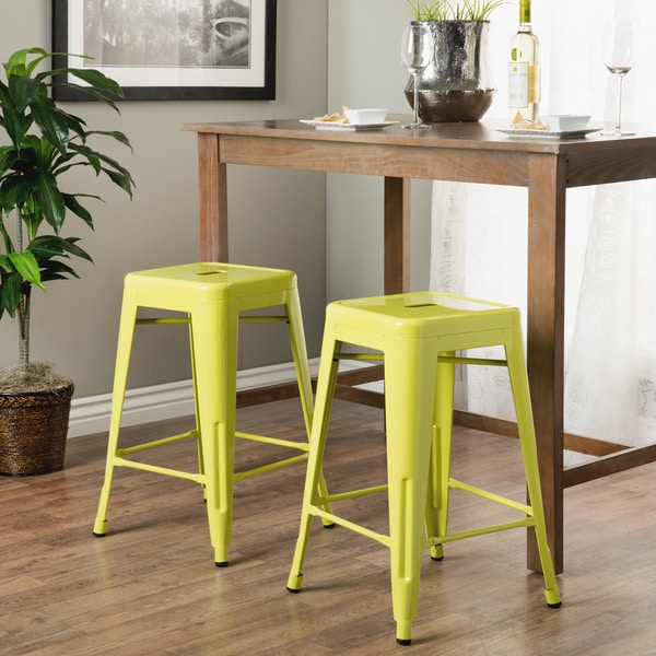 tabouret 24inch limeade metal counter stools set of 2 - Metal Counter Stools