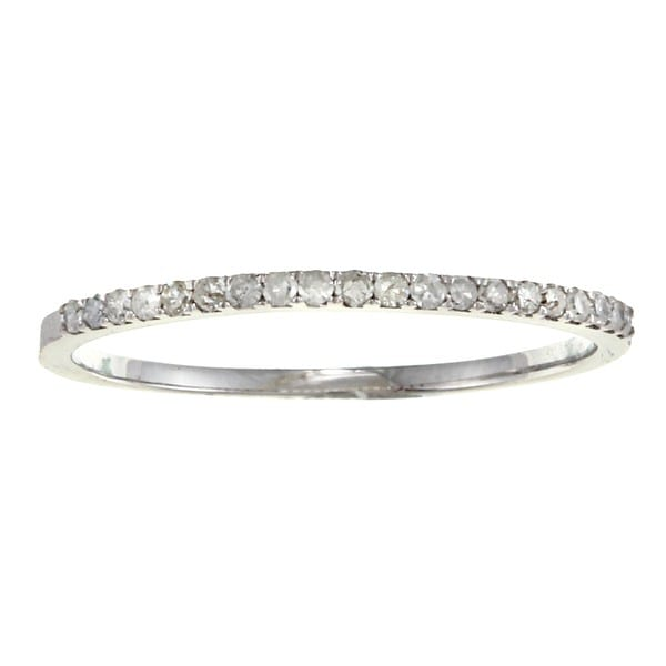 10k Gold 1/8ct TDW Diamond Thin Wedding Band