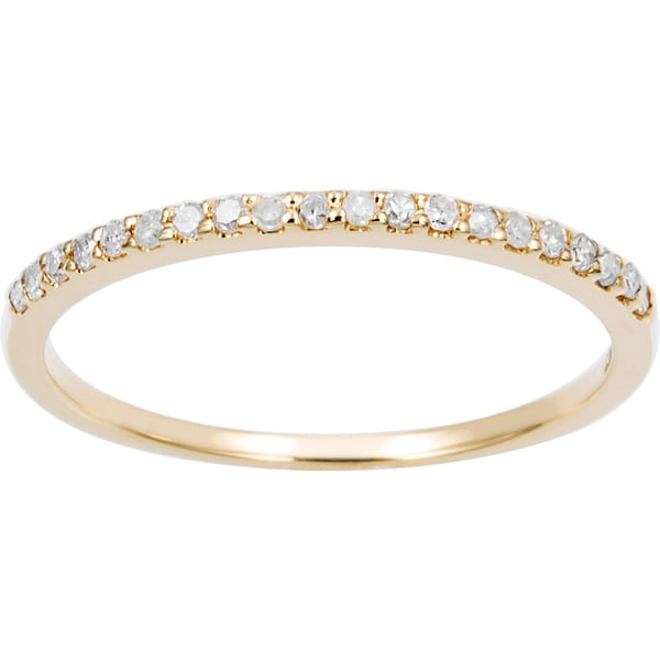 Thin Diamond Band Stackable
