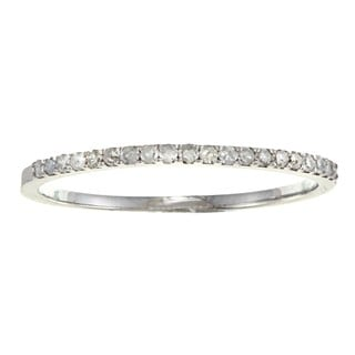 10k Gold 1/8ct TDW Diamond Thin Wedding Band (G-H, I1-I2)