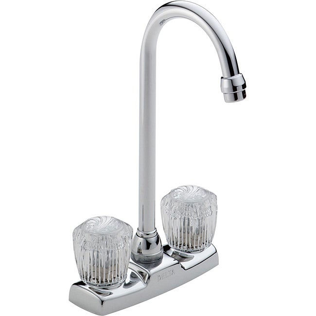 Delta 2-handle Washerless High Arc Chrome Bar Faucet