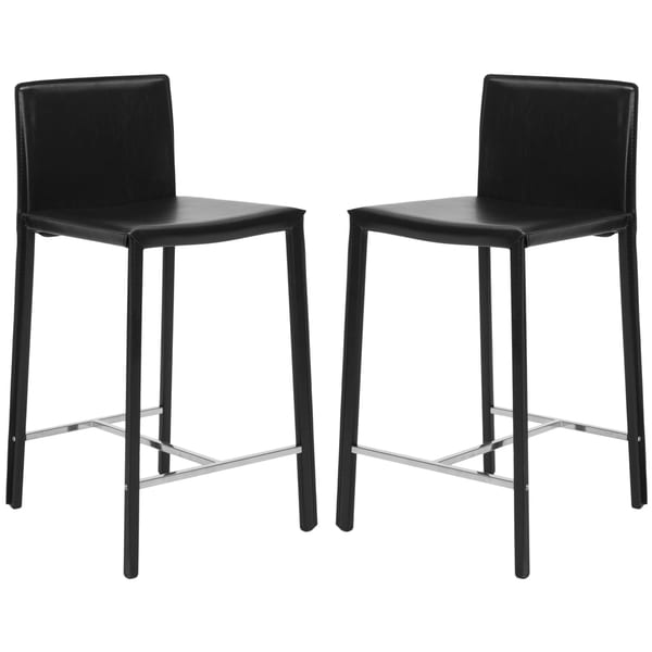Safavieh Mid-Century 26-inch Park Ave Black Counter Stool (Set of 2)
