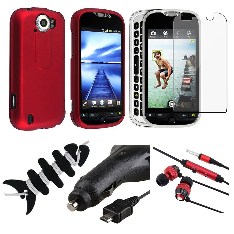 BasAcc Red Case/ Protector/ Headset/ Wrap/ Charger for HTC MyTouch 4G